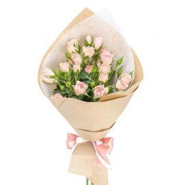5 кустовых роз кремовых