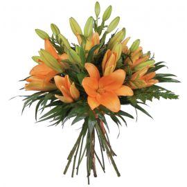 15 лилий оранжевых