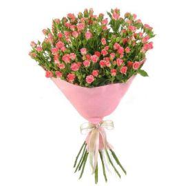 15 кустовых роз розовых