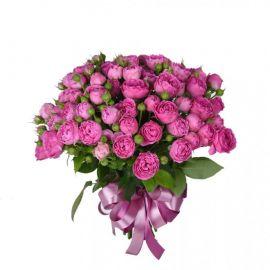 23 кустовых роз розовых