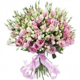 51 эустома розовых
