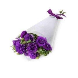5 эустом фиолетовых