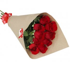 9 роз красных