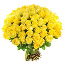101 роза желтая