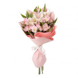 5 альстромерий розовых