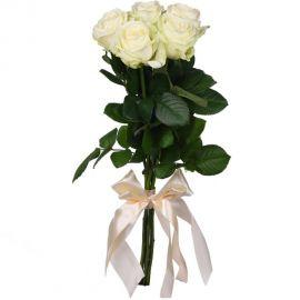 5 роз белых