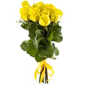 7 роз желтых
