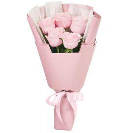 5 роз розовых