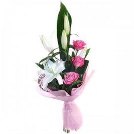 3 розы 1 лилия