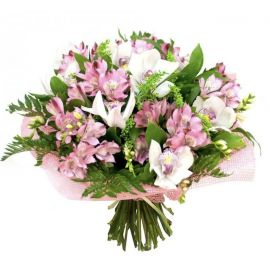 15 альстромерий 7 орхидей 3 фрезии
