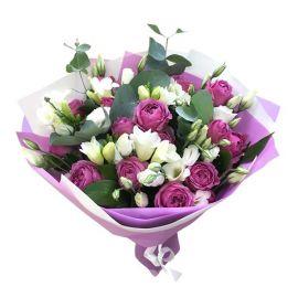11 роз кустовых 6 фрезий