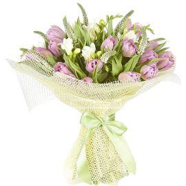 21 тюльпан 8 фрезий