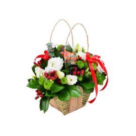 4 эустомы 3 хризантемы сантини 2 фрезии 1 роза