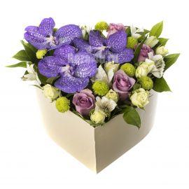 6 альстромерий 5 роз 4 розы кустовых 3 орхидеи