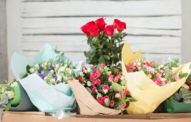 variety of bouquets
