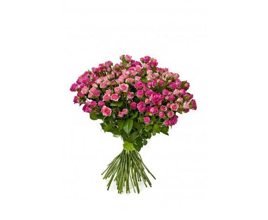 43 кустовых розы розовых